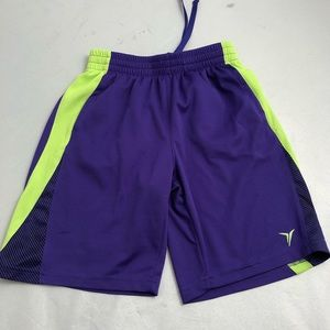 Old Navy Active purple/neon yellow athletic shorts